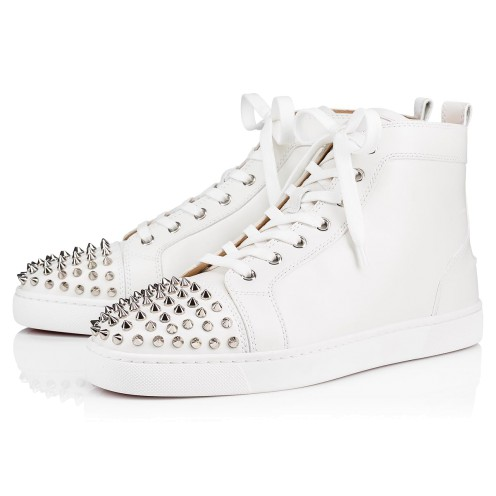 メンズシューズ - Lou Spikes Men's Flat - Christian Louboutin