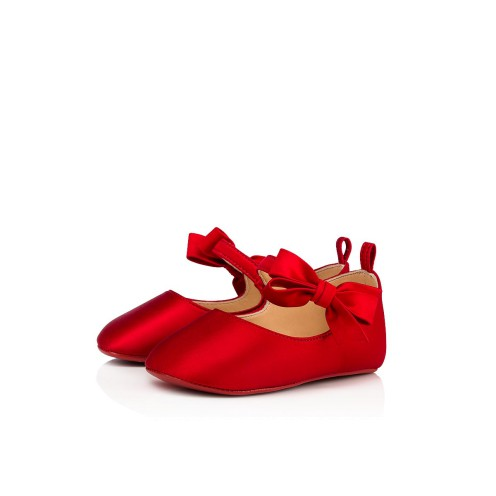 Women Kid Shoes - Loubi Red Baby Shoes - Christian Louboutin