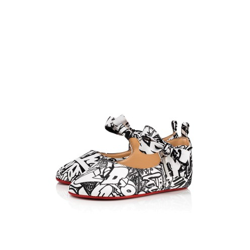 Women Kid Shoes - Baby Shoes Wallgraf Black & White - Christian Louboutin