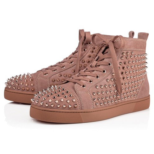メンズシューズ - Louis Spikes Men's Flat - Christian Louboutin