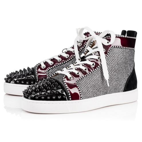 メンズシューズ - Louis Spikes Orlato Men's Flat - Christian Louboutin