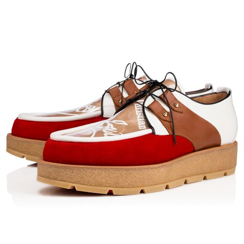 メンズシューズ - Marcello Crepe Men's Flat - Christian Louboutin