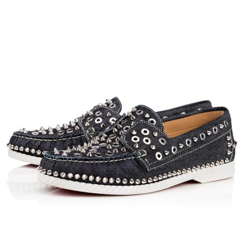 メンズシューズ - Yacht Spikes Men's Flat - Christian Louboutin