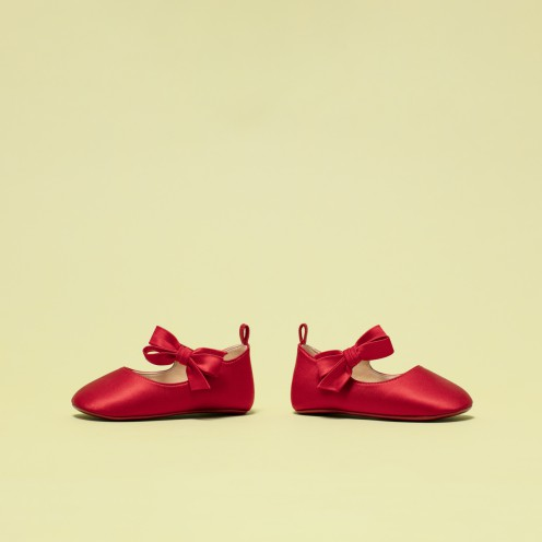 Women Kid Shoes - Loubi Red Baby Shoes - Christian Louboutin_2