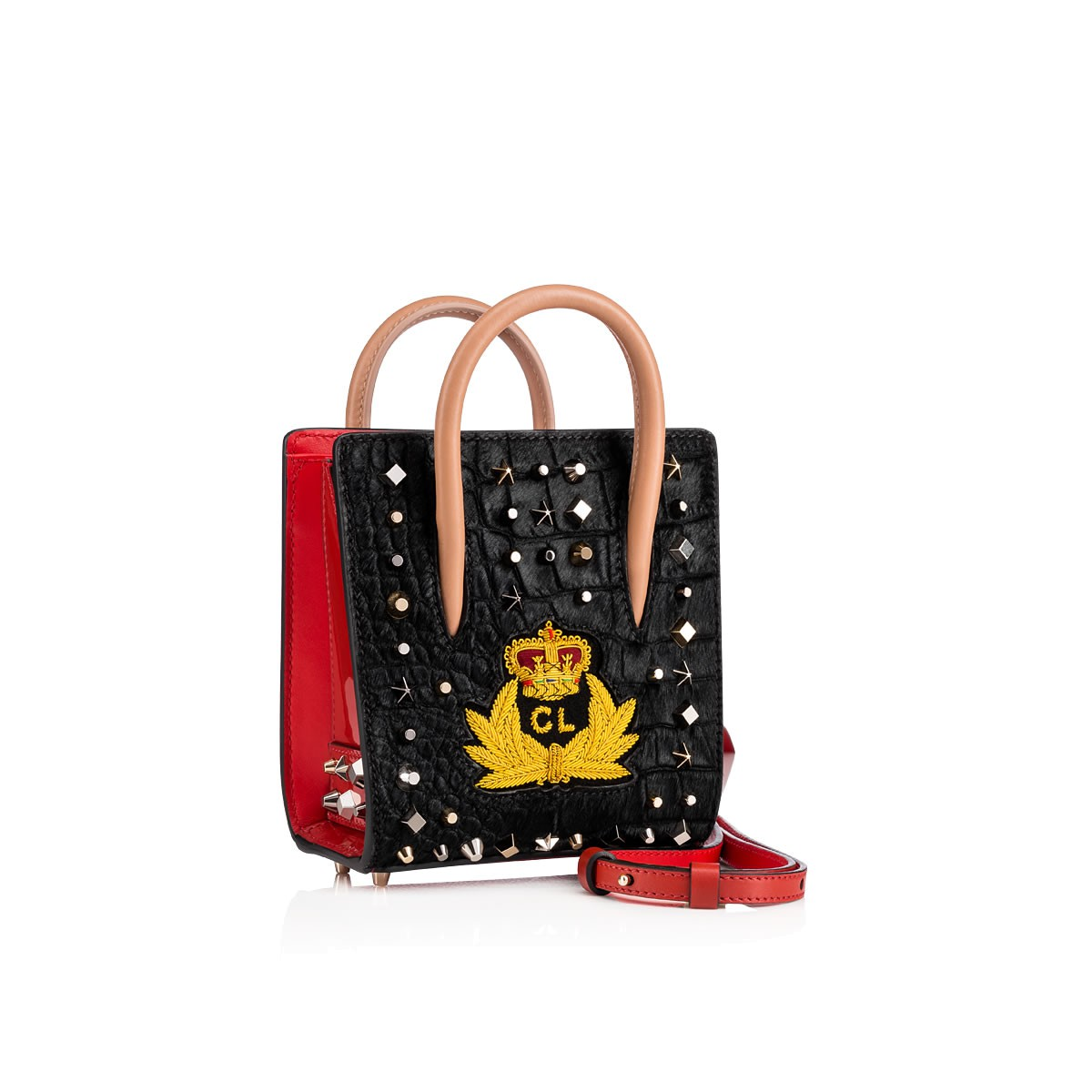 Bags - Paloma Nano Pony Croco/pat/ecusson Sp Trashmix Creative Leather - Christian Louboutin