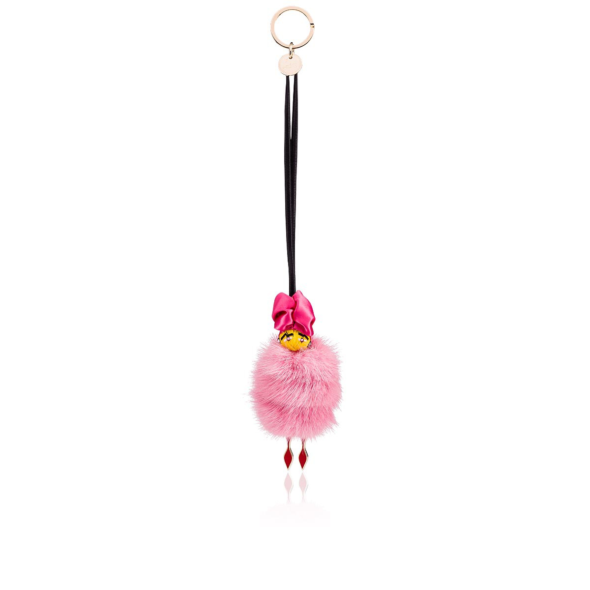 スモールレザーグッズ - Bag Charm Doll Fur - Christian Louboutin
